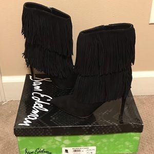 Fringe High Heel Boots